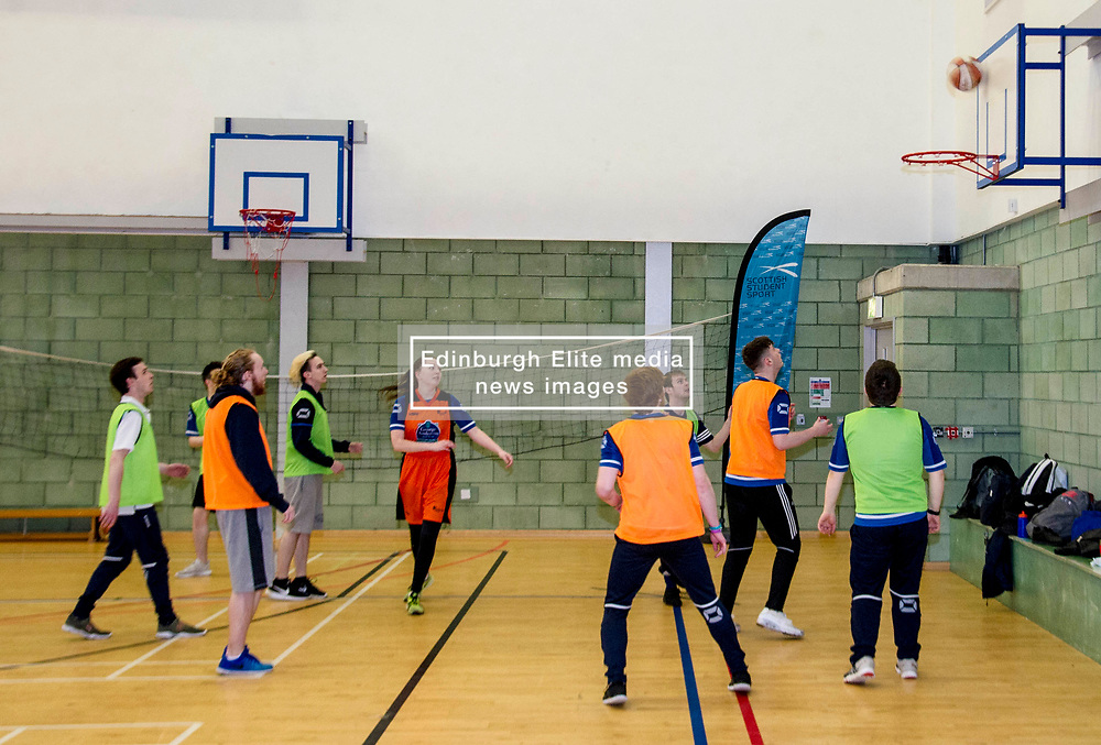 Pictured: <br /> <br /> Further and Higher Education Minister Shirley-Anne Somerville visited Edinburgh College's Granton campus to view the sport facilities and to announce a new GBP465,000 investment fund for the student sport sector.<br /> <br /> Ger Harley   EEm 8 February 2018