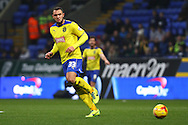 Joel Lynch of Huddersfield Town in action. Skybet football league championship match, Bolton Wanderers v Huddersfield Town at the Macron stadium in Bolton, Lancs on Saturday 29th November 2014.<br /> pic by Chris Stading, Andrew Orchard sports photography.