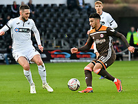 Football - 2018 / 2019 Emirates FA Cup - Fifth Round: Swansea City vs. Brentford<br /> <br /> Said Benrahma of Brentford on the attack, at Liberty Stadium.<br /> <br /> COLORSPORT/WINSTON BYNORTH
