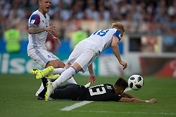 June 16, 2018 - Moscow, RUSSIA - Moscow, RUSSIA - Saturday, June 16, 2018: Argentina and Iceland tied 1-1 at Spartak Stadium in Moscow. (Credit Image: © Celso Bayo/ISIPhotos via ZUMA Wire)