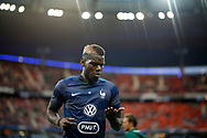 France's midfielder Paul Pogba reacts during the FIFA World Cup Russia 2018, Qualifying Group A football match between France and Netherlands on August 31, 2017 at the Stade de France in Saint-Denis, north of Paris, France - Photo Benjamin Cremel / ProSportsImages / DPPI
