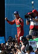 11, Lucas di Grassi (BRA) - ABT Schaeffler Audi Sport, ABT Schaeffler FE02, Celebration by the Winner of the FormulaE championship 2017, <br /> <br /> CANADA e-Prix,FIA Formula E Grand Prix in Montreal on 30 july, 2017 . Formel E in Montreal.fee liable image,copyright@  ATP / Patrice Lapointe