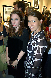 Left to right, sisters LADY FRANCES ARMSTRONG-JONES and LADY SARAH CHATTO at an exhibition of photographs by Lord Snowdon held at the Chris Beetles Gallery, Ryder Street, London on 18th September 2006.<br />