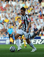 The Hawthorns West Bromwich Albion v Newcastle United Championship 08/08/2009<br /> Robert Koren   (West Bromwich Albion) is held by Alan Smith  (Newcastle)<br /> Photo Roger Parker Fotosports International