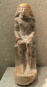 Seated figure of Maya, governor and chief of the priests. New Kingdom, dynasty 18 around 1450 BC v limestone.