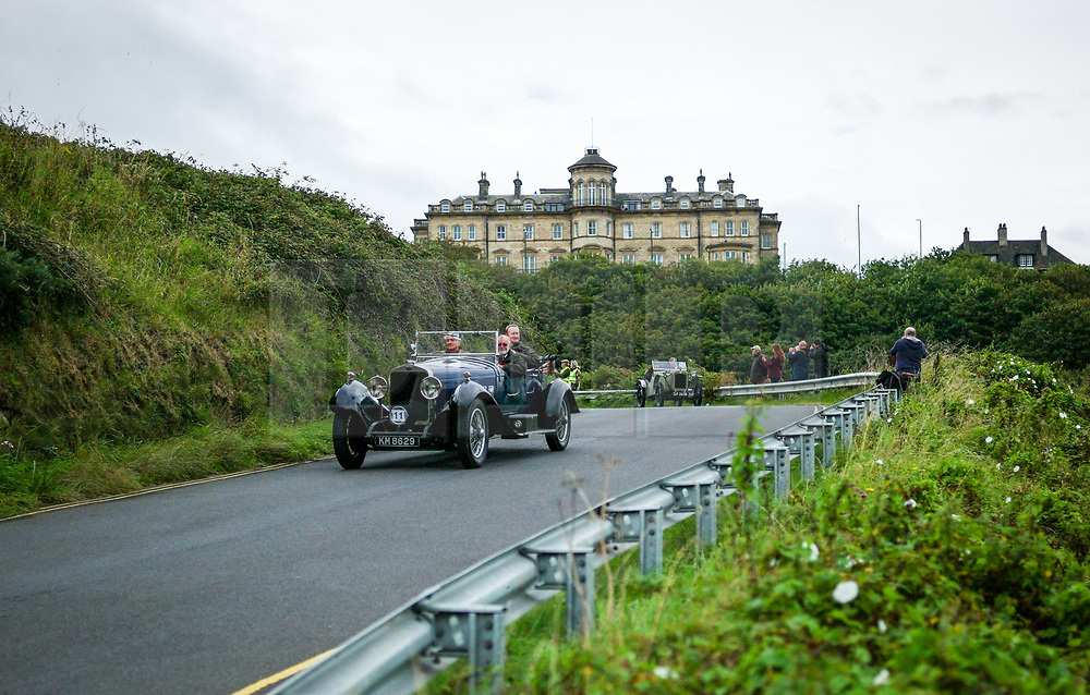 © Licensed to London News Pictures. <br /> 10/09/2017 <br /> Saltburn by the Sea, UK.  <br /> <br /> Entrants return to the bottom of the hill after taking part in the annual Saltburn by the Sea Historic Gathering and Hill Climb event. Organised by Middlesbrough and District Motor Club the event brings together owners of a wide range of classic cars and motorcycles dating from the early 1900's to 1975. Participants take part in a hill climb to test their machines up a steep hill near the town. Once held as a competitive gathering a change in road regulations forced the hill climb to become a non-competitive event.<br /> <br /> Photo credit: Ian Forsyth/LNP