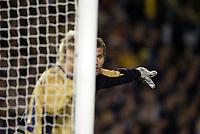 Fotball, 31. mars 2004, Privatlandskamp, Sverige-England 1-0, Andreas Isaksson, Sverige, goalkeeper