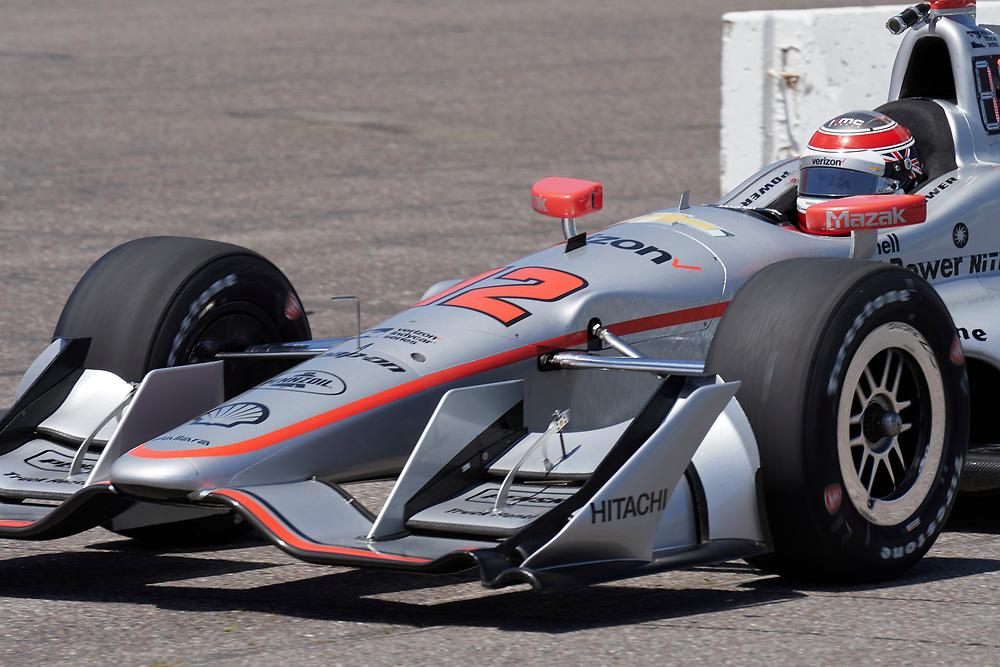 IndyCar test at Gateway Motosports Park on May 2, 2017.