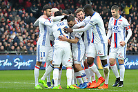 11 Rachid GHEZZAL (ol) - 21 MAXIME GONALONS (ol) - 29 Lucas TOUSART (ol) - JOIE<br /> <br /> FOOTBALL : Guingamp vs Lyon - Ligue 1 - 11/02/2017<br /> <br /> Norway only