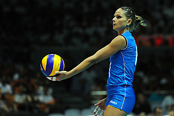 25-08-2010 VOLLEYBAL: WGP FINAL CHINA - ITALY: BEILUN NINGBO<br /> Italy swept past China in straight sets in their opening match / Simona Gioli<br /> ©2010-WWW.FOTOHOOGENDOORN.NL