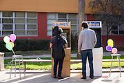 Attendees play videos games during Humanities & Arts Day Student Showcase at San Jose State University's Student Union Barrett Ballroom in San Jose, California, on October 25, 2013. (Stan Olszewski/SOSKIphoto)
