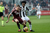 Andrea Belotti Torino, Juan Cuadrado Juventus<br /> Torino 11-12-2016 Stadio Olimpico Grande Torino <br /> Fotball Calcio Serie A 2016/2017 Torino - Juventus  <br /> Foto Massimo Pinca Insidefoto