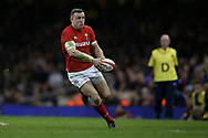 Hadleigh Parkes of Wales in action. Wales v Scotland, NatWest 6 nations 2018 championship match at the Principality Stadium in Cardiff , South Wales on Saturday 3rd February 2018.<br /> pic by Andrew Orchard, Andrew Orchard sports photography