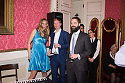 MATT RIDLEY, KIT MASSEY, HEATHER, KIT MASSEY TRIO, Literary Review  40th anniversary party and Bad Sex Awards,  In & Out Club, 4 St James's Square. London. 2 December 2019