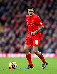 Philippe Coutinho of Liverpool - Mandatory by-line: Matt McNulty/JMP - 21/01/2017 - FOOTBALL - Anfield - Liverpool, England - Liverpool v Swansea City - Premier League