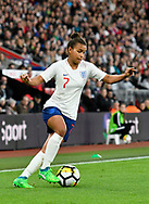 Nikita Parris (7) of England during the FIFA Women's World Cup UEFA Qualifier match between England Ladies and Wales Women at the St Mary's Stadium, Southampton, England on 6 April 2018. Picture by Graham Hunt.