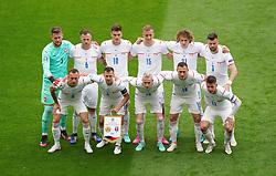 Czech Republic line up before the UEFA Euro 2020 Group D match at Hampden Park, Glasgow. Picture date: Monday June 14, 2021.