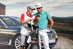 25.06.2015, Golfclub München Eichenried, Muenchen, GER, BMW International Golf Open, Tag 1, im Bild Rafa Cabrera-Bello (ESP) bespricht sich mit seinem Caddie // during day one of the BMW International Golf Open at the Golfclub München Eichenried in Muenchen, Germany on 2015/06/25. EXPA Pictures © 2015, PhotoCredit: EXPA/ Eibner-Pressefoto/ Kolbert<br /> <br /> *****ATTENTION - OUT of GER*****