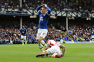 Ross Barkley of Everton reacts after missing a chance to score. Premier league match, Everton v Stoke city at Goodison Park in Liverpool, Merseyside on Saturday 27th August 2016.<br /> pic by Chris Stading, Andrew Orchard sports photography.