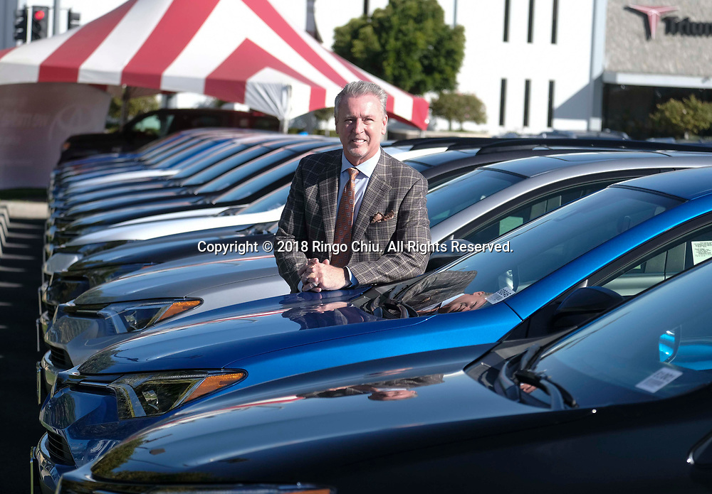 Nick Cardin, general manager of Puente Hills Toyota/Scion in City of Industry. (Photo by Ringo Chiu)<br /> <br /> Usage Notes: This content is intended for editorial use only. For other uses, additional clearances may be required.