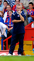 Photo: Alan Crowhurst.<br />Crystal Palace v Charlton Athletic. Coca Cola Championship. 01/09/2007.Palace's worried manager Peter Taylor.