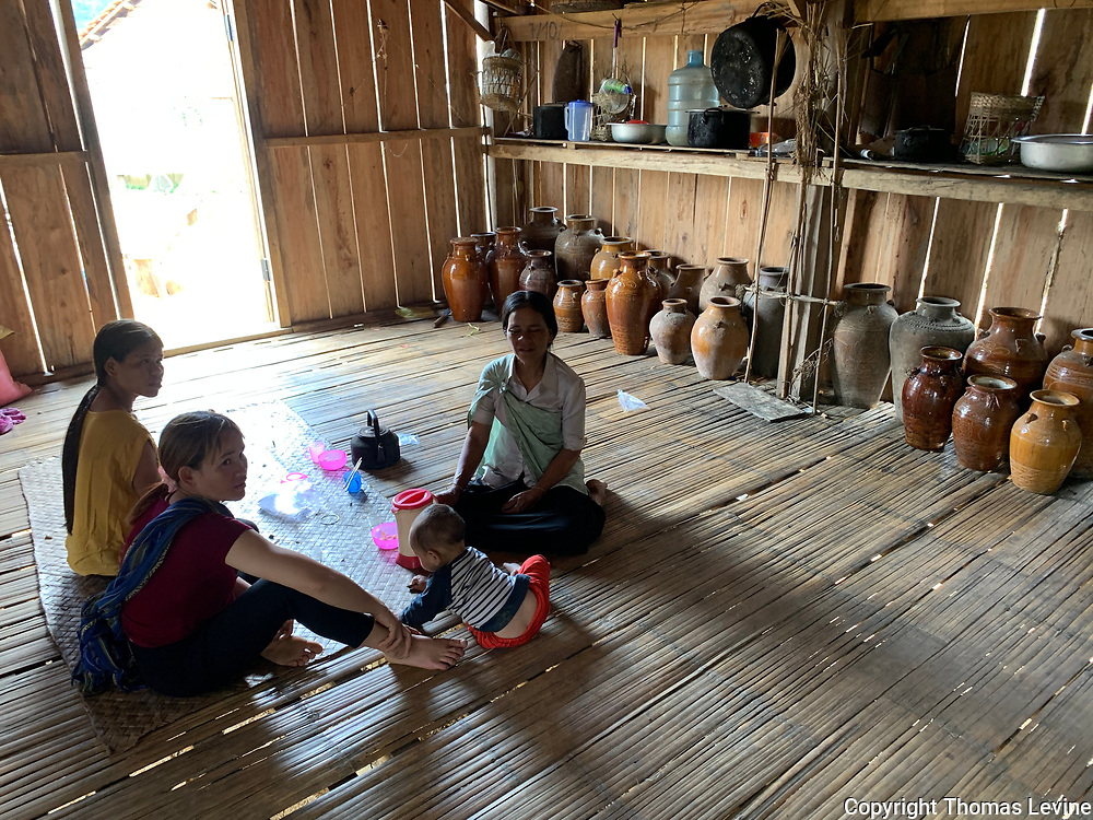 Vietnamese Family inside their house in the Central Hills.