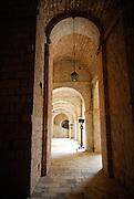 Arched passage, Fort Lovrinjenac (Fort of Saint Lawrence), Dubrovnik old town, Croatia