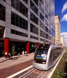 Downtown Houston metro light rail