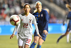 February 27, 2019 - Chester, PA, U.S. - CHESTER, PA - FEBRUARY 27: Japan Defender Risa Shimizu (22) watches the ball in the second half during the She Believes Cup game between Japan and the United States on February 27, 2019 at Talen Energy Stadium in Chester, PA. (Photo by Kyle Ross/Icon Sportswire) (Credit Image: © Kyle Ross/Icon SMI via ZUMA Press)