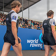 Tom Murray & Michael Brake , New Zealand elite  Mens Coxless Pair <br /> <br /> Compete in the A Finals at FISA World Rowing Cup III on Sunday 14 July 2019 at the Willem Alexander Baan,  Zevenhuizen, Rotterdam, Netherlands. © Copyright photo Steve McArthur / www.photosport.nz