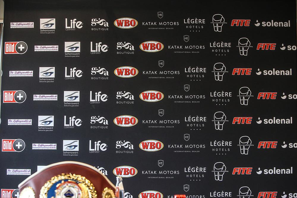 Boxen: WBO-Europameisterschaft, Cruisergewicht, Pressekonferenz, Bielefeld, 08.07.2021<br /> Leon Harth (GER) - Raad Rashid (GER)<br /> © Torsten Helmke