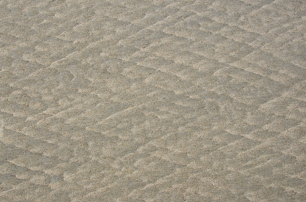 Parting lineation patterns in the beach sand, Ogunquit, Maine.