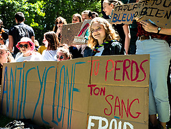 May 24, 2019 - Rennes, France - More than 1000 young citizens marched in the downtown of Rennes, France on May 24th, 2019, to denounce political actions regarding climate change. (Credit Image: © Vernault Quentin/NurPhoto via ZUMA Press)