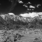 Alabama Hills And Mt. Whitney - Eastern Sierra - Black & White