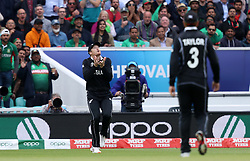New Zealand's Martin Guptill catches out Bangladesh's Mosaddek Hossain during the ICC Cricket World Cup group stage match at The Oval, London.