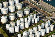 Nederland, Zuid-Holland, Rotterdam, 28-09-2014;  Botlek-gebied, tankterminal van Vopak aan de Sint Laurenshaven.<br /> Port of Rotterdam tankterminal.<br /> luchtfoto (toeslag op standard tarieven);<br /> aerial photo (additional fee required);<br /> copyright foto/photo Siebe Swart