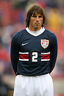 Frankie Hejduk, of the United States, as the U.S. debuts their new uniforms on Sunday, February 19th, 2005 at Pizza Hut Park in Frisco, Texas. The United States Men's National Team defeated Guatemala 4-0 in a men's international friendly.