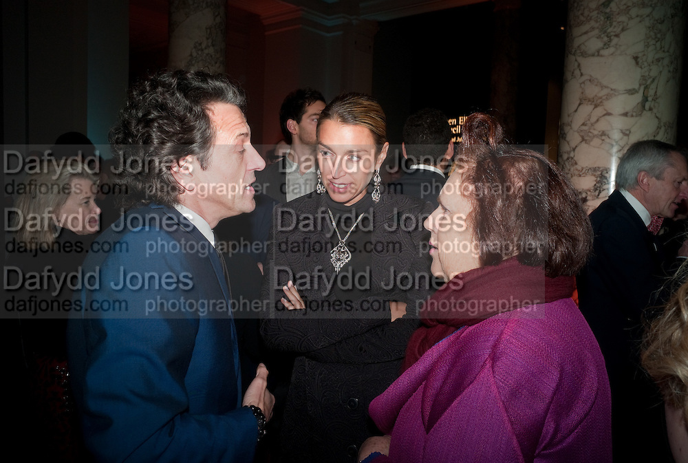 STEPHEN WEBSTER; ASSIA WEBSTER; SUZY MENKES, Cecil Beaton private view. V and A Museum. London. 6 February 2012