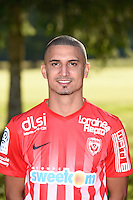 Michael Chretien of Nancy poses for a portrait during the Nancy squad photo call for the 2016-2017 Ligue 1 season on August 25, 2016 in Nancy, France<br /> Photo : Fred Marvaux / Icon Sport
