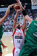 DESCRIZIONE : Pesaro Lega A 2011-12 Scavolini Siviglia Pesaro Montepaschi Siena<br /> GIOCATORE : Simone Flamini<br /> CATEGORIA : tiro penetrazione stoppata scelta<br /> SQUADRA : Scavolini Siviglia Pesaro<br /> EVENTO : Campionato Lega A 2011-2012<br /> GARA : Scavolini Siviglia Pesaro Montepaschi Siena<br /> DATA : 26/04/2012<br /> SPORT : Pallacanestro<br /> AUTORE : Agenzia Ciamillo-Castoria/C.De Massis<br /> Galleria : Lega Basket A 2011-2012<br /> Fotonotizia : Pesaro Lega A 2011-12 Scavolini Siviglia Pesaro Montepaschi Siena<br /> Predefinita :