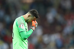 MOSCOW, July 11, 2018  Goalkeeper Danijel Subasic of Croatia reacts after the 2018 FIFA World Cup semi-final match between England and Croatia in Moscow, Russia, July 11, 2018. Croatia won 2-1 and advanced to the final. (Credit Image: © Cao Can/Xinhua via ZUMA Wire)