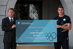 Miro Cerar and Vasilij Zbogar during reception of Slovenian Olympic Team at Vila Podroznik when they came back from Rio de Janeiro after Summer Olympic games 2016, on August 26, 2016 in Ljubljana, Slovenia. Photo by Matic Klansek Velej / Sportida