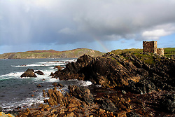 July 21, 2019 - Carrickbrahey Castle On Isle Of Doagh At Malin Head, Donegal, Ireland (Credit Image: © Peter Zoeller/Design Pics via ZUMA Wire)