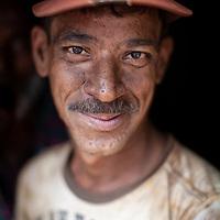 Portrait of a worker in a shipyard on the Buriganga river, Dhaka, Bangladesh