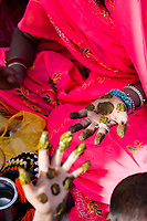 Rajasthan,India - March 29 : woman of the countryside are celebrating the god who protect them in the gangaur festival one of the most important of the year,march 29 2009 in all rajasthan,india