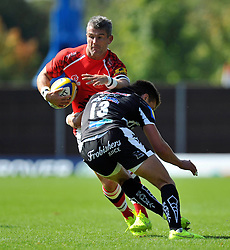 Tom May (London Welsh) in possession - Photo mandatory by-line: Patrick Khachfe/JMP - Mobile: 07966 386802 06/09/2014 - SPORT - RUGBY UNION - Oxford - Kassam Stadium - London Welsh v Exeter Chiefs - Aviva Premiership
