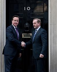 © licensed to London News Pictures. London, UK 12/03/2012. Prime Minister David Cameron meeting Taoiseach Enda Kenny this noon at 10 Downing Street. Photo credit: Tolga Akmen/LNP