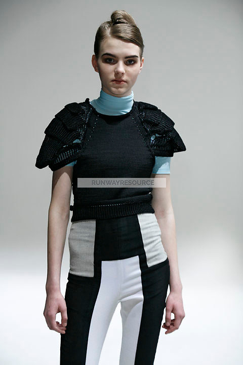 Darya Kurovska wearing Julian Louie Fall 2009 Collection