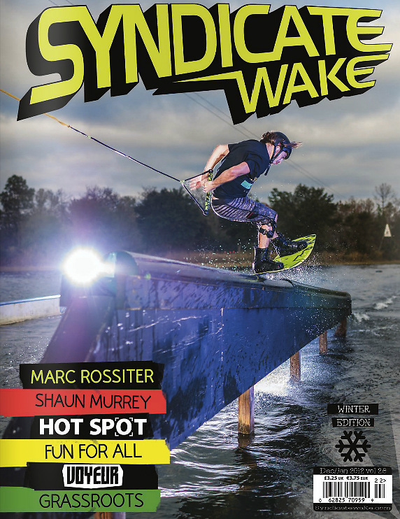 Marc Rossiter on the cover of Syndicate Wake magazine.