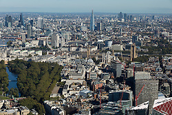 © Licensed to London News Pictures. 26/04/2016. London, UK. The city of London bathes in the Autumn sunshine. Photo credit: Martin Apps/LNP